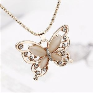 Jewelry - Pink butterfly necklace